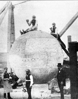 The Great Globe i Mowlem's Yard