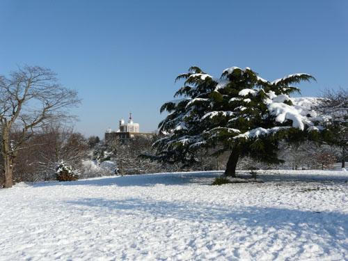 Greenwich Park under Snow