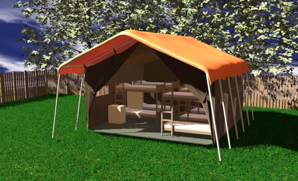 Illustration of one of the high end Oranjec&ing tents & Tall ship spectacular planned for Dutch invasion | Greenwich.co.uk