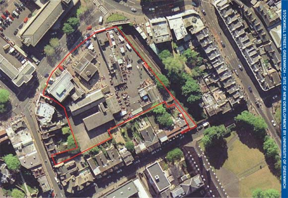 Aerial view of Stockwell St land