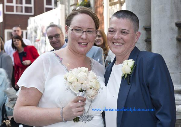 1st same sex wedding in RBG