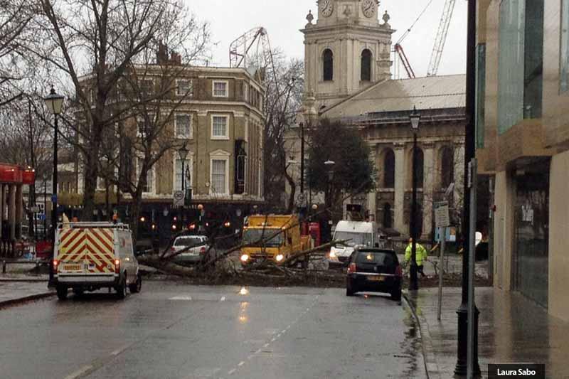 Storm Katie in London